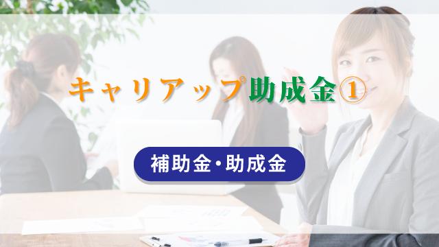 キャリアップ助成金(1)【補助金・助成金】