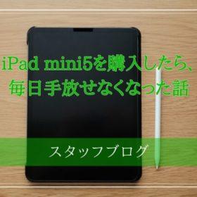 iPad mini5を購入したら、毎日手放せなくなった話